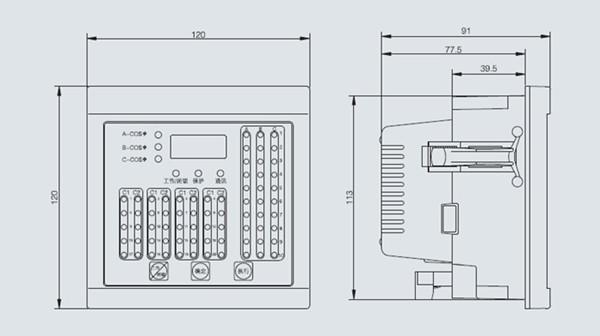 nzj智能无功补偿控制器的接线